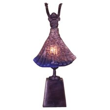 "Silhouette 17"" H Erte Lighted Dancer Accent Table Lamp"