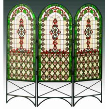 "<strong>Meyda Tiffany</strong> 58"" x 60"" Quatrefoil Classical 3 Panel Room Divider"