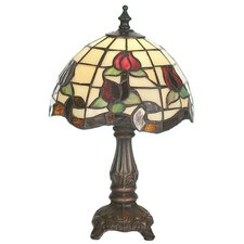 <strong>Meyda Tiffany</strong> Victorian Rose Border Mini Table Lamp
