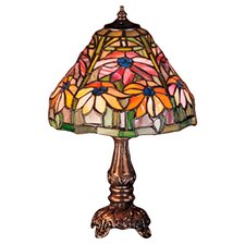 <strong>Meyda Tiffany</strong> Tiffany Floral Nouveau Holiday Poinsettia Mini Table Lamp
