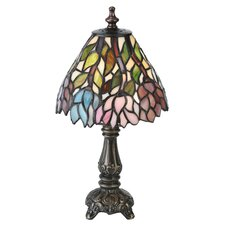 "Wisteria Tiffany Mini 13"" H Table Lamp with Bowl Shade"