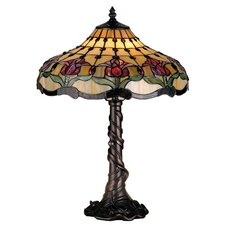 <strong>Meyda Tiffany</strong> Victorian Tiffany Nouveau Colonial Tulip Table Lamp