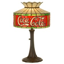 <strong>Meyda Tiffany</strong> Tiffany Americana Recreation Coca-Cola Table Lamp