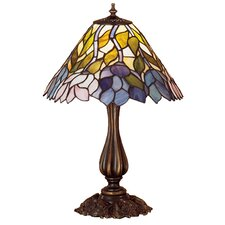 """Wisteria Tiffany 21"""" H Table Lamp with Bowl Shade"""