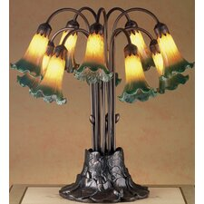 "Victorian 22"" H Pond Lily 10 Light Table Lamp"