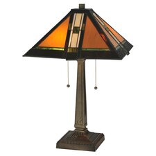 <strong>Meyda Tiffany</strong> Prairie Parquet Mission Table Lamp