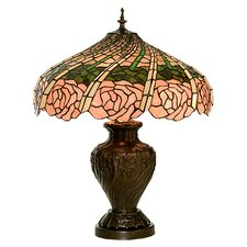 "Rose Swirl 24"" H Table Lamp with Bowl Shade"