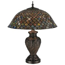 <strong>Meyda Tiffany</strong> Tiffany Fishscale Table Lamp
