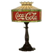 "Coca-Cola 24.5"" H Table Lamp with Drum Shade"