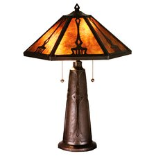 "Grenway Mica 25"" H Table Lamp with Bowl Shade"