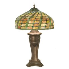 "Jeweled Swirl 28"" H Table Lamp with Bowl Shade"