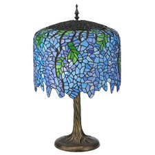<strong>Meyda Tiffany</strong> Wisteria Tiffany Table Lamp