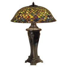 "Tiffany 30"" H Fishscale Table Lamp"