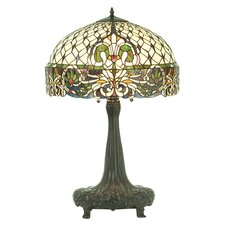 "Rococo 31"" H Table Lamp with Bowl Shade"