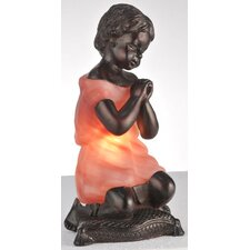 "Silhouette Praying Child 9"" H Table Lamp"