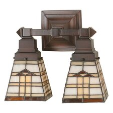 Arrowhead Mission 2 Light Wall Sconce