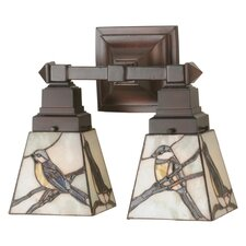 <strong>Meyda Tiffany</strong> Early Morning Visitors 2 Light Wall Sconce