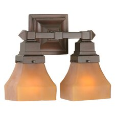 <strong>Meyda Tiffany</strong> Bungalow 2 Light Wall Sconce