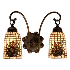 Pine Barons 2 Light Wall Sconce