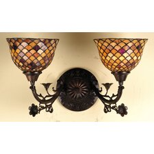 Tiffany Fishscale 2 Light Wall Sconce