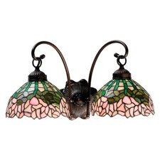 <strong>Meyda Tiffany</strong> Cabbage Rose 2 Light Wall Sconce
