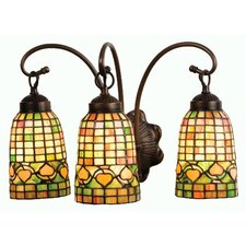 <strong>Meyda Tiffany</strong> Victorian Lodge Tiffany Acorn 3 Light Vanity Light