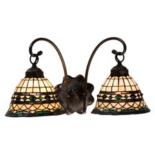Tiffany Roman 2 Light Wall Sconce
