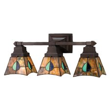 Mackintosh Leaf 3 Light Vanity Light