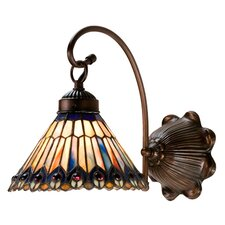 <strong>Meyda Tiffany</strong> Tiffany Jeweled Peacock 1 Light Wall Sconce