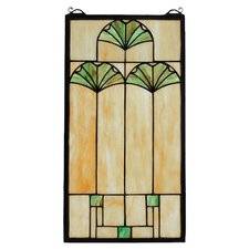 Ginkgo Stained Glass Window