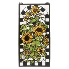 Sunflowers in Bloom Stained Glass Window