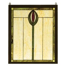 <strong>Meyda Tiffany</strong> Nautical Spear Wood Frame Stained Glass Window