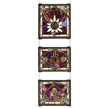 Solstice 3 Piece Stained Glass Window