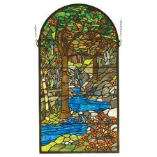 Victorian Tiffany Waterbrooks Stained Glass Window