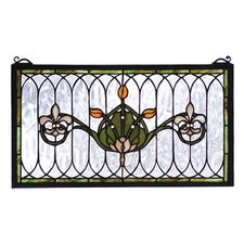 Victorian Nouveau Tulip and Fleurs Stained Glass Window