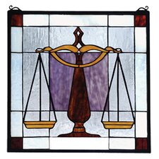 <strong>Meyda Tiffany</strong> Americana Judicial Stained Glass Window