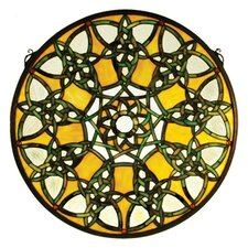 <strong>Meyda Tiffany</strong> Tiffany Knotwork Trance Medallion Stained Glass Window