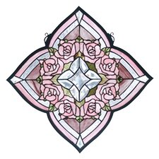 Victorian Ring of Roses Stained Glass Window