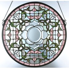 Tulip Bevel Medallion Stained Glass Window