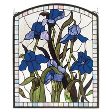 Iris Tiffany Nouveau Stained Glass Window
