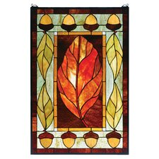 Lodge Tiffany Floral Harvest Festival Stained Glass Window