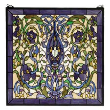 Floral Nouveau Fantasy Stained Glass Window