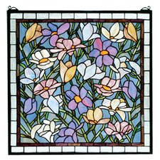 Tiffany Floral Nouveau Sugar Magnolia Stained Glass Window