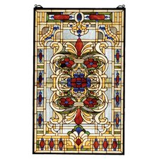 Victorian Nouveau Estate Floral Stained Glass Window