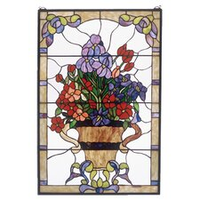 <strong>Meyda Tiffany</strong> Floral Arrangement Stained Glass Window