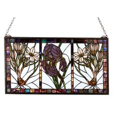 Floral Spring Triptych Stained Glass Window
