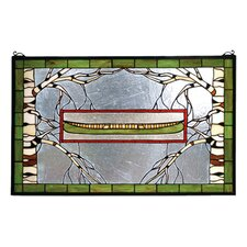 North Country Canoe Stained Glass Window
