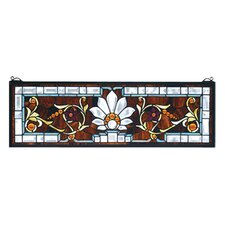 Victorian Tiffany Floral Beveled Ellsinore Transom Stained Glass Window