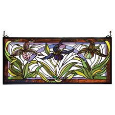 Victorian Lady Slippers Stained Glass Window