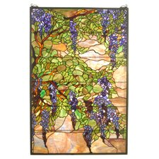 <strong>Meyda Tiffany</strong> Tiffany Wisteria and Snowball Stained Glass Window